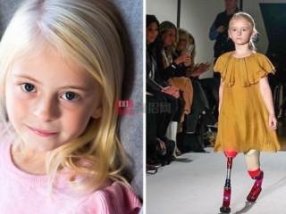 特许服装品牌River Island聘请了一名7岁的双截肢者来当夏季服饰模特