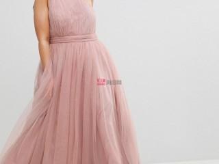 现代浪漫新娘的44种粉红色婚纱礼服
