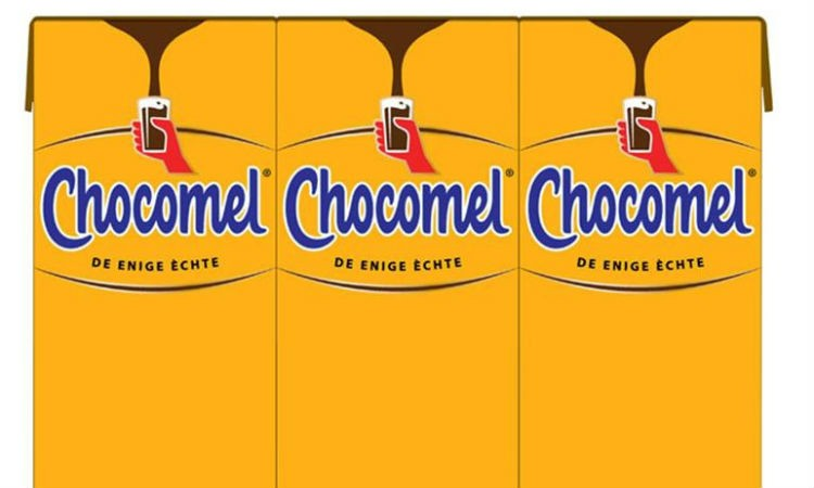 Chocomel new package design is composed of 80% raw plant material