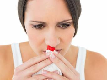 What causes a nosebleed at night?