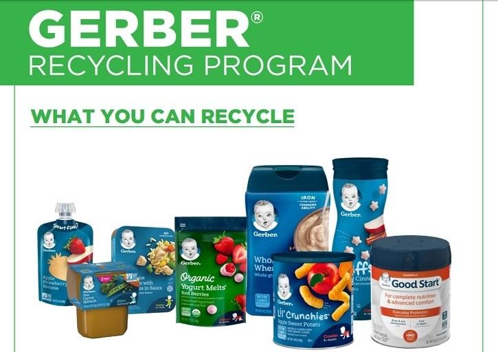 """Gerber团队用TerraCycle来促进回收,探索""""重大创新""""来减少包装"""