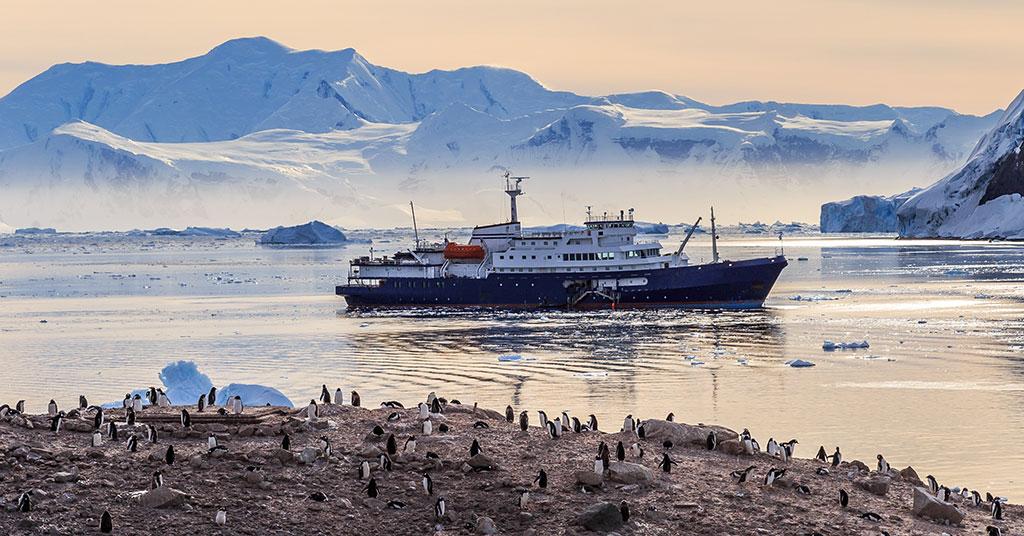 任何时候都可以在位于南极洲的游轮上健身