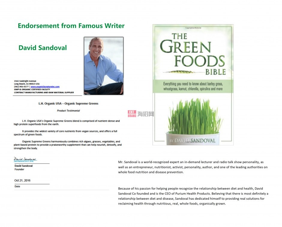 Endorsement from Dr. and Writer David Sandoval