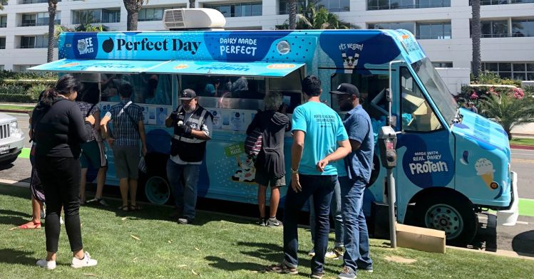 Sampling Perfect Day ice cream in Los Angeles