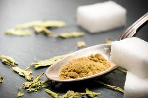 Stevia rebaudiana bertoni powder, natural sweetener