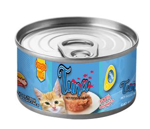 泰国曼谷产地的15盎司重量湿罐头金枪鱼猫罐头食品