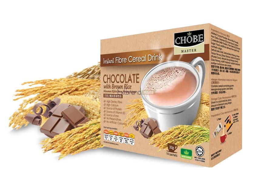 马来西亚速溶谷物谷物饮料(巧克力和糙米)