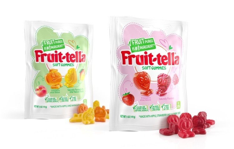 """新推出的Fruit-tella软糖瞄准了美国市场的""""更健康""""类别"""
